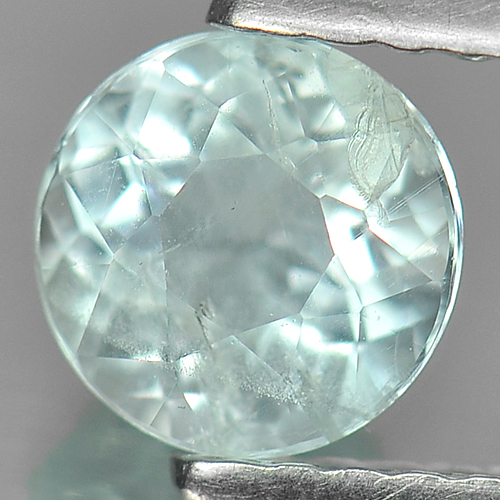 0.73 Ct. Nice Color Round Natural Gem Light Blue Aquamarine Unheated