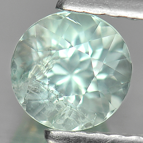 0.64 Ct. Lovely Round Natural Gem Light Blue Aquamarine Unheated