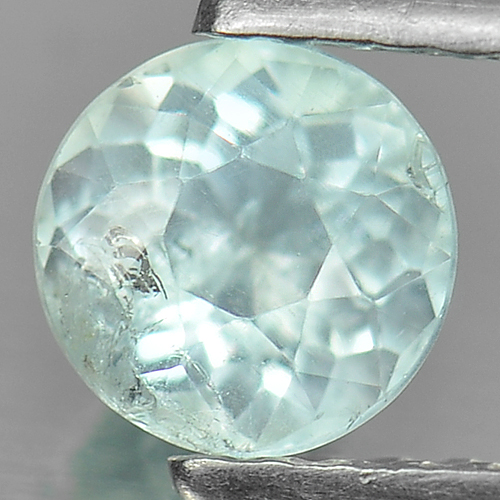 0.57 Ct. Nice Cutting Round Natural Gem Light Blue Aquamarine Unheated