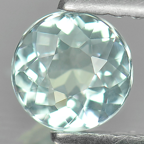 0.51 Ct. Charming Round Natural Gem Light Blue Aquamarine Unheated