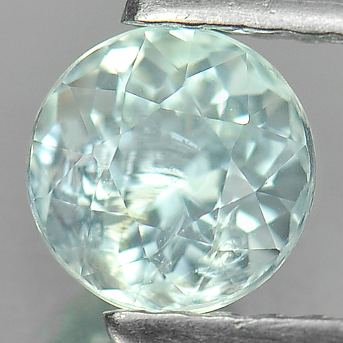 0.65 Ct. Dazzling Round Natural Gem Light Blue Aquamarine Unheated