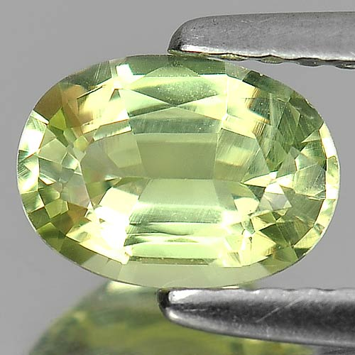 Unheated 0.97 Ct. Oval Shape Natural Gem Greenish Yellow Chrysobery Madagascar
