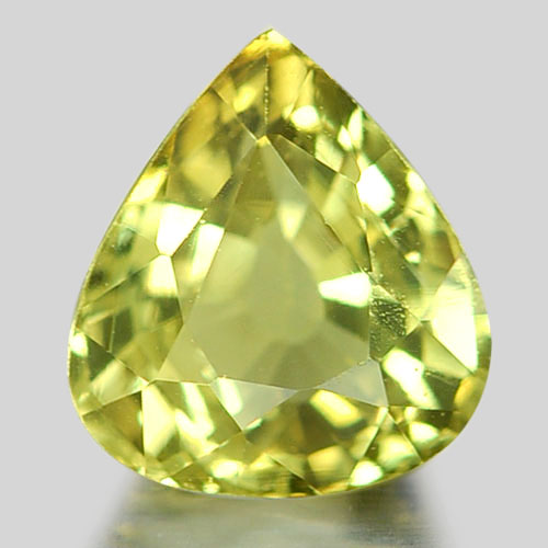 1.09 Ct. Pear Shape Natural Gemstone Yellowish Green Chrysoberyl From Madagascar