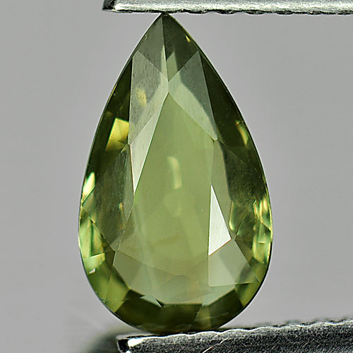 1.23 Ct. Pear Shape Natural Gemstone Yellowish Green Chrysoberyl From Madagascar