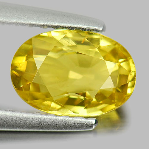 Unheated 1.31 Ct. Oval Shape Natural Gemstone Yellow Chrysoberyl From Madagascar