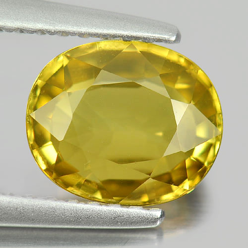 Gemstone 1.74 Ct. Oval Shape Natural Yellow Chrysoberyl Unheated