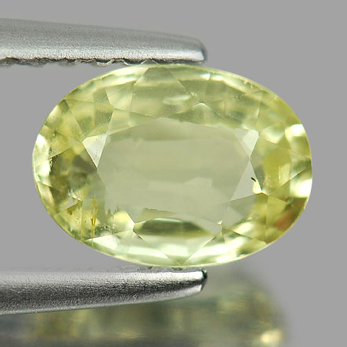 Unheated 1.20 Ct. Oval Shape Natural Gemstone Yellow Chrysoberyl From Madagascar