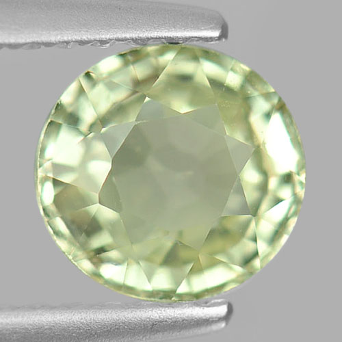 Unheated 1.19 Ct. Oval Natural Gemstone Yellowish Green Chrysoberyl Madagascar