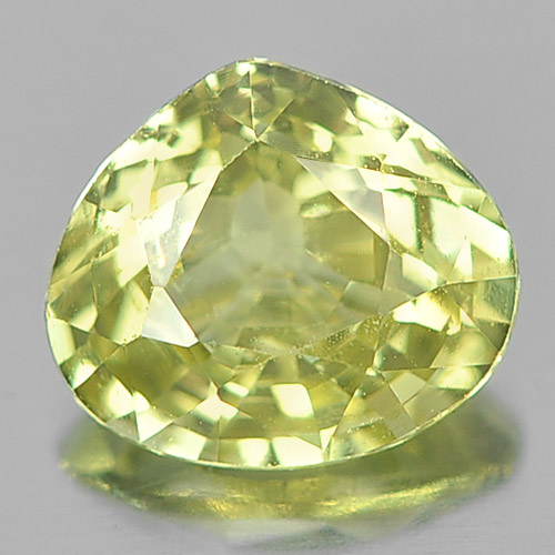 Unheated 1.15 Ct. Pear Shape Natural Gem Yellow Chrysoberyl From Madagascar