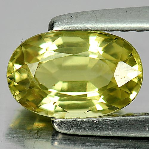 Unheated Gemstone 1.26 Ct. Oval Shape Natural Greenish Yellow Chrysoberyl