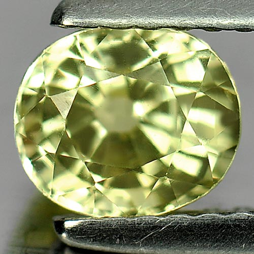 Unheated 1.19 Ct. Natural Gem Yellow Chrysoberyl Oval Shape 6.2 x 5.4 x 4.4 Mm.