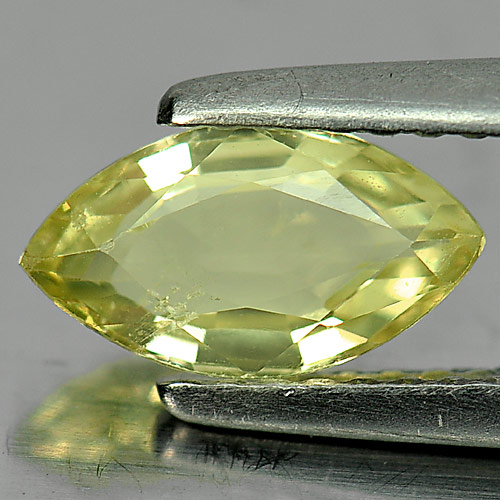 Unheated 1.00 Ct. Natural Gem Greenish Yellow Chrysoberyl Marquise Shape