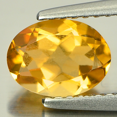 0.96 Ct. Oval Natural Yellow Citrine Brazil