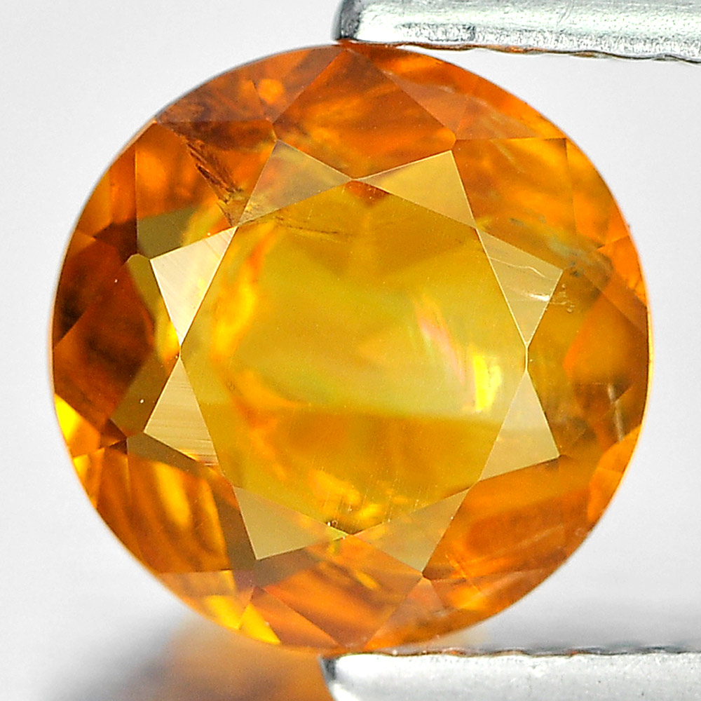 1.05 Ct. Round Shape Natural Gemstone Orange Yellow Citrine From Brazil Unheated