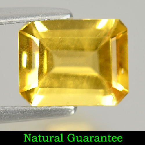 1.99 Ct. Octagon Shape Natural Yellow Citrine Gemstone Unheated