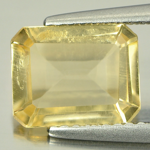 Unheated 1.78 Ct. Natural Yellow Citrine Octagon Shape Gemstone