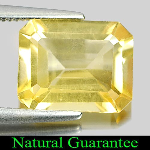 2.59 Ct. Natural Yellow Citrine Octagon Shape Gemstone Unheated From Brazil