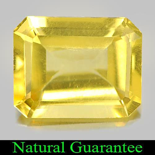1.75 Ct. Good Octagon Shape Natural Yellow Citrine Gemstone