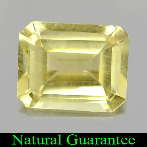 1.71 Ct. Octagon Shape Natural Gemstone Yellow Citrine From Brazil