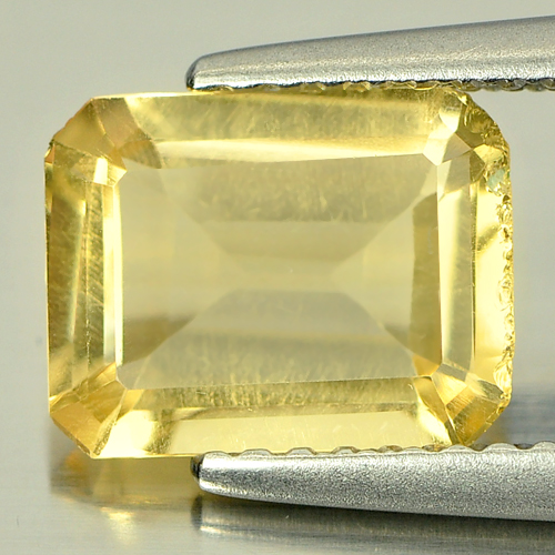 Unheated 1.59 Ct. Natural Yellow Citrine Gemstone Octagon Shape