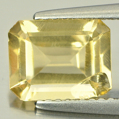 1.78 Ct. Natural Yellow Citrine Gemstone Octagon Shape