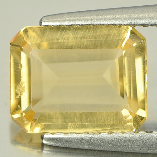 1.69 Ct. Octagon Shape Natural Yellow Citrine Gemstone Brazil