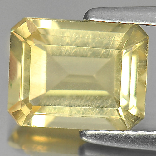 2.03 Ct. Octagon Shape Natural Yellow Citrine Gemstone Unheated