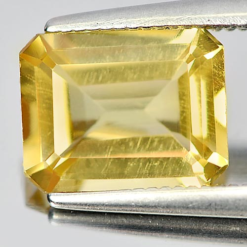 Unheated 1.95 Ct. Octagon Shape Natural Yellow Citrine Gemstone