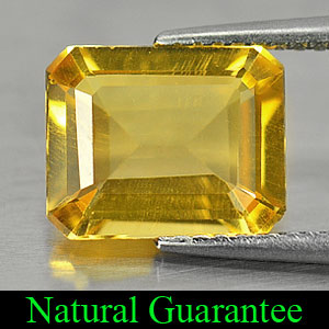 2.56 Ct. Octagon Shape Natural Yellow Citrine Gemstone Brazil