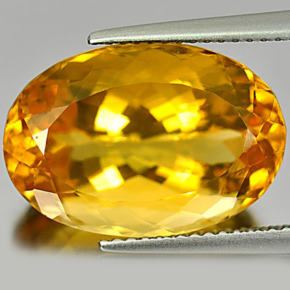 11.79 Ct. Oval Shape Natural Gemstone Yellow Citrine From Brazil Unheated