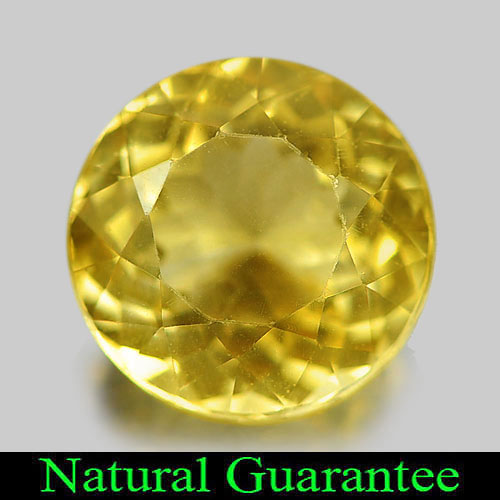 3.42 Ct. Round Shape Natural Gemstone Yellow Citrine From Brazil