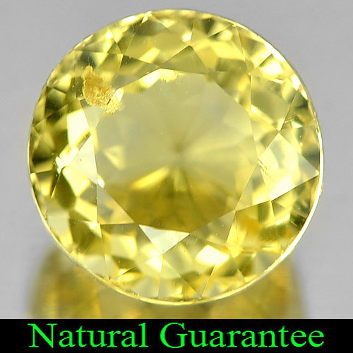 3.61 Ct. Round Shape Natural Yellow Citrine Brazil Unheated