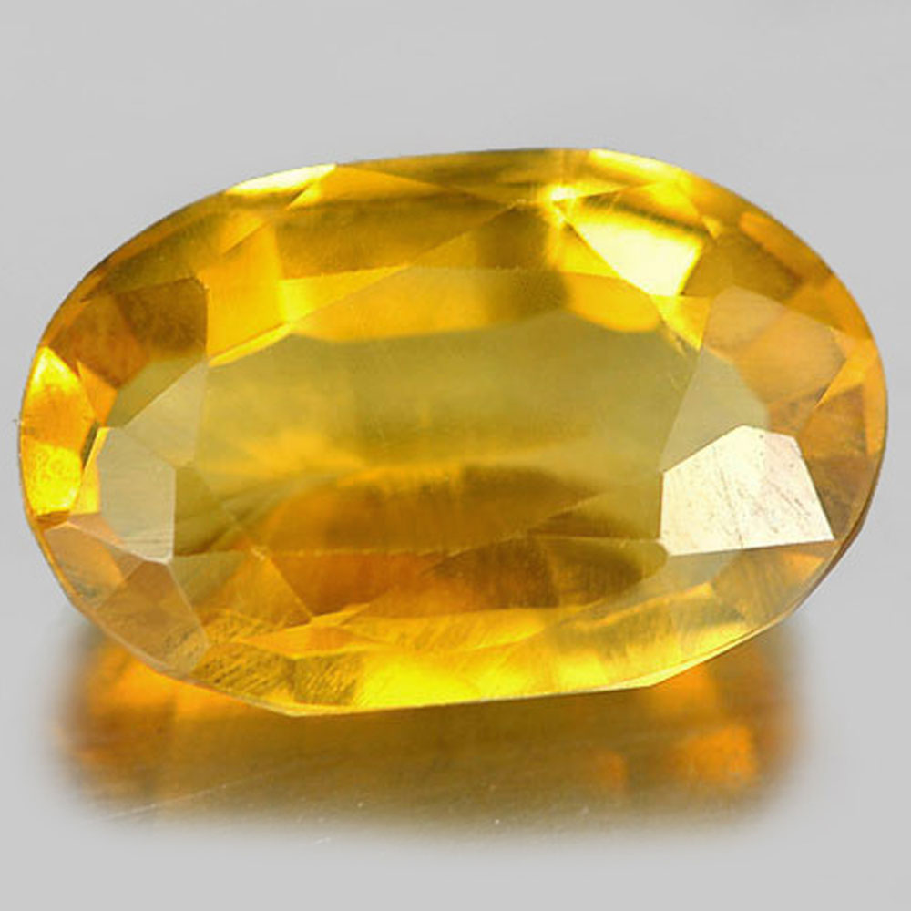 2.57 Ct. Oval Shape Natural Gemstone Yellow Citrine Unheated From Brazil