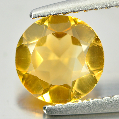 Good Color 0.97 Ct. Round Natural Gemstone Yellow Citrine Unheated