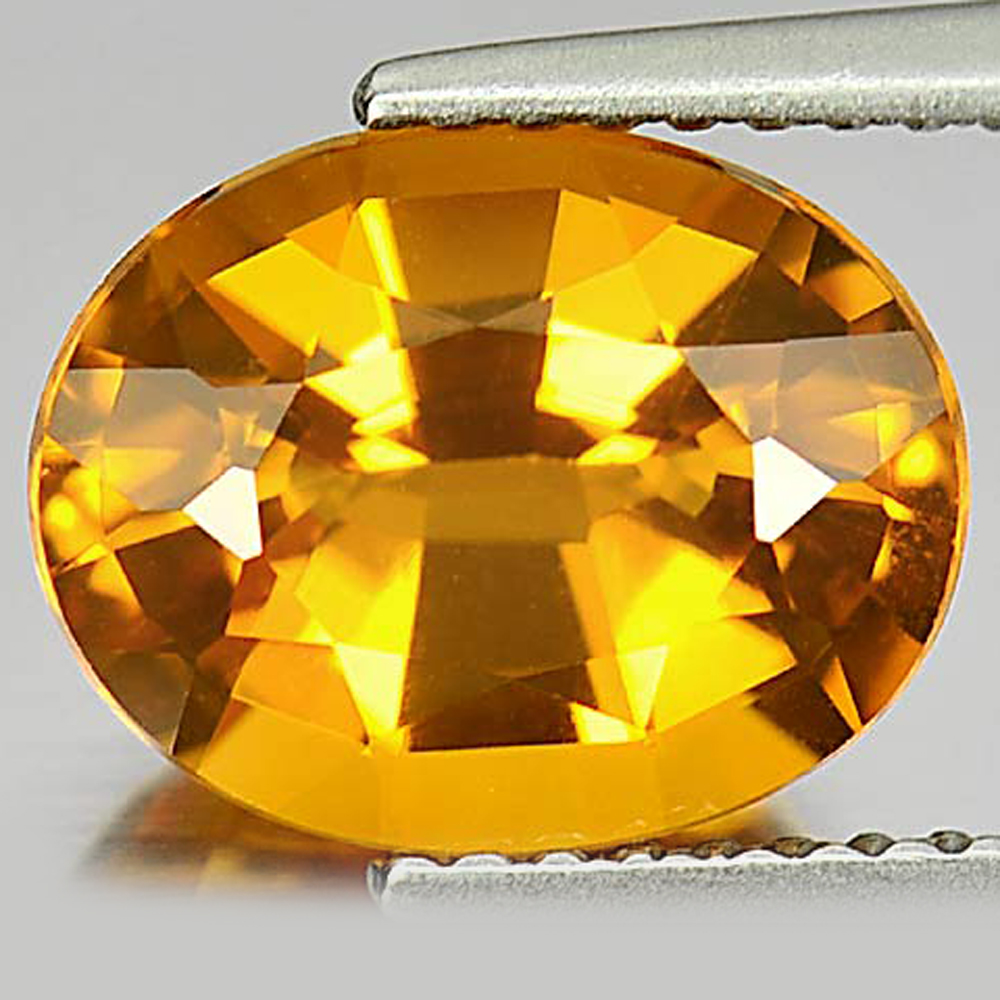 2.54 Ct. Oval Shape Gemstone Natural Clean Yellow Gold Citrine From Brazil