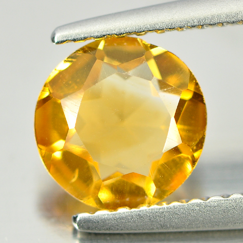 0.98 Ct. Charming Natural Gemstone Yellow Citrine Round Shape
