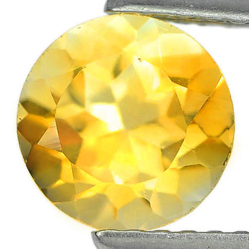 1.30 Ct. Natural Gemstone Yellow Citrine Round Shape Unheated From Brazil