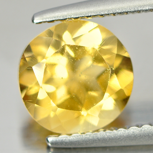 1.58 Ct. Good Cutting Round Natural Gem Yellow Citrine From Brazil