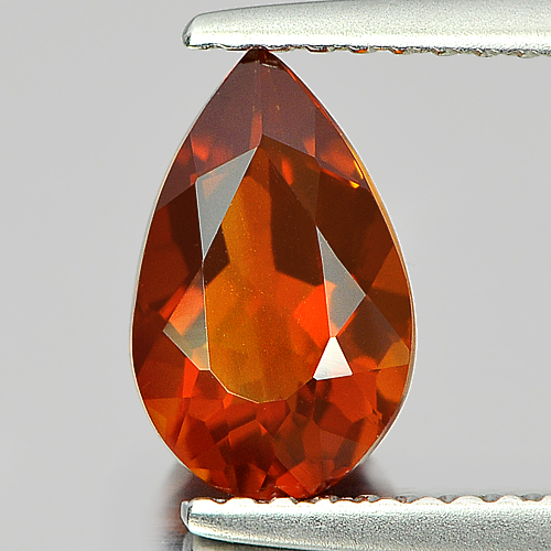 0.91 Ct. Charming Pear Yellow Orange Unheated Natural Gem Citrine