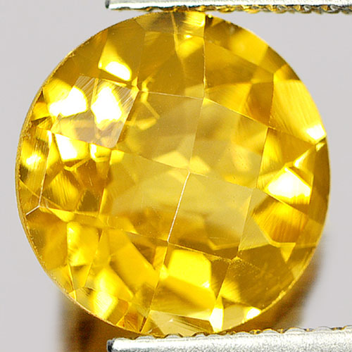 3.32 Ct. Trilliant Checkerboard Natural Gemstone Clean Yellow Citrine Unheated