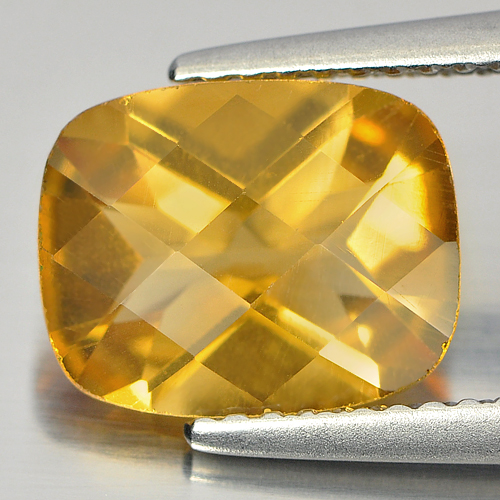 2.35 Ct. Nice Cutting Cushion CheckerboardYellow Natural Citrine Gemstone