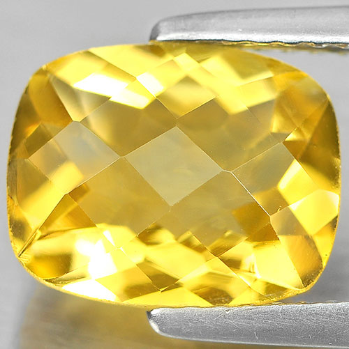 2.51 Ct. Lovely Cushion Checkerboard Yellow Natural Citrine Gemstone