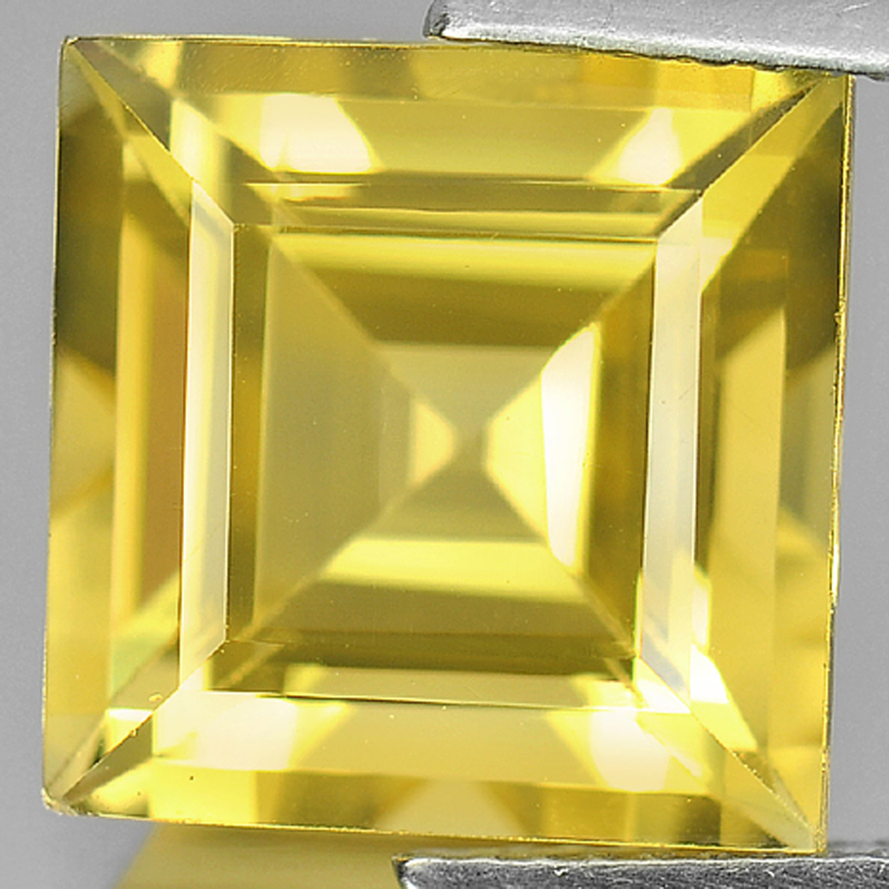 7.84 Ct. Square Shape Natural Gemstone Clean Yellow Citrine Unheated