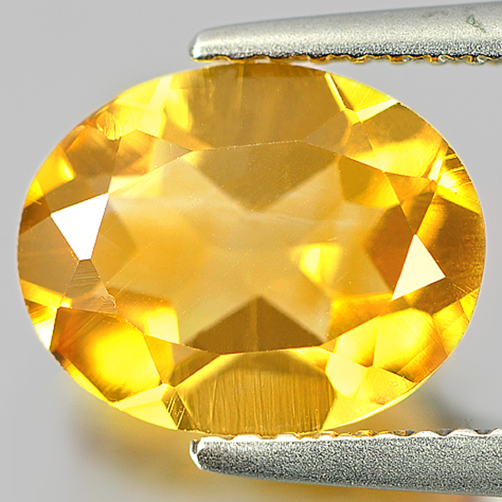 2.24 Ct. Oval Shape Natural Gem Clean  Yellow Citrine From Brazil Unheated