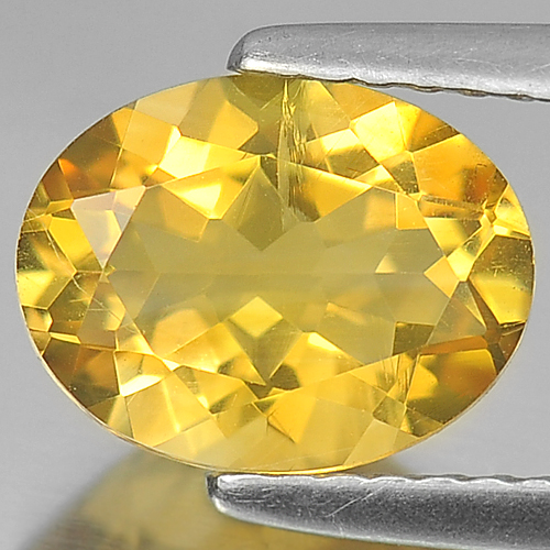 1.63 Ct.  Oval Shape Natural  Yellow Citrine Gemstone Unheated Brazil