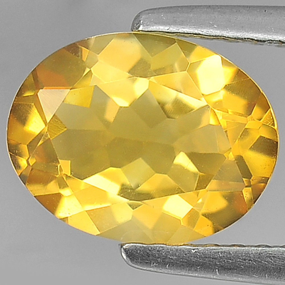 1.55 Ct. Oval Shape Natural Gemstone Yellow Citrine Unheated From Brazil