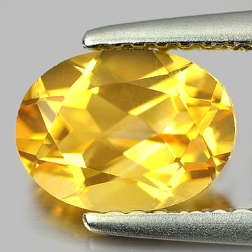 1.17 Ct. Oval Shape Natural Yellow Citrine Gemstone Unheated Brazil