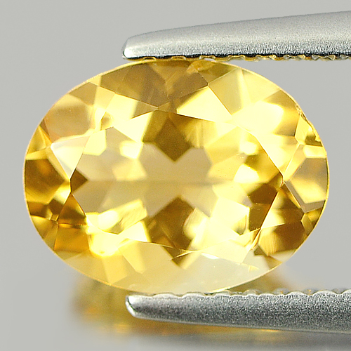 1.50 Ct. Shinning Oval Shape Unheated Natural Gem Yellow Citrine Brazil
