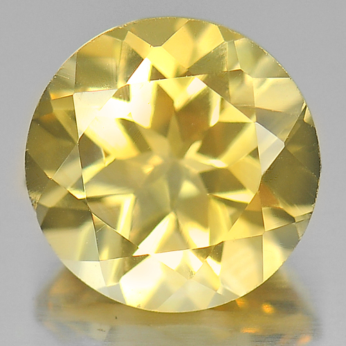 2.58 Ct. Nice Color Round Shape Natural Yellow Citrine Gemstone Brazil