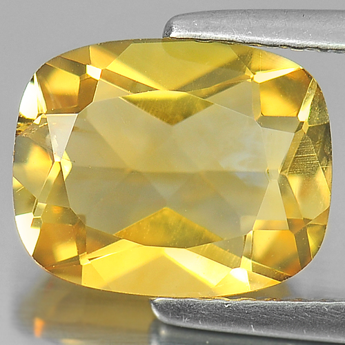 2.48 Ct. Cushion Shape Natural Gemstone Yellow Citrine From Brazil Unheated